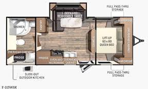 Floor Plan Finder New 2016 Cruiser Fun Finder F 215wsk Travel Trailer At