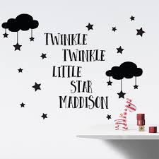 twinkle twinkle little star personalised wall stickers twinkle twinkle little star personalised wall stickers