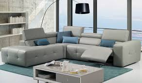 Turquoise Leather Sectional Sofa Living Room Esf Leather Sectional Sofa In Light Grey With Right