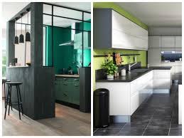 cuisine mur vert pomme cuisine verte mur meubles électroménager déco clematc