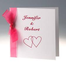 pink wedding invitations discount simple hot pink ribbon folded wedding invitations