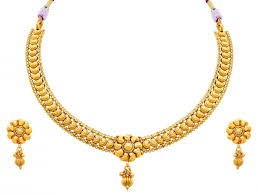 gold plated simple necklace images Jfl traditional ethnic one gram gold plated bead designer necklace jpg