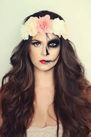Simple Cat Makeup For Halloween by Day Of The Dead Makeup And Hair Some Great Images Through This