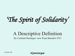 the spirit of solidarity
