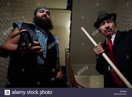 organized crime an organized crime boss with his bodyguard stock photo royalty