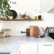 hexagon tile kitchen backsplash white hex backsplash by smith of annabode co hey homie