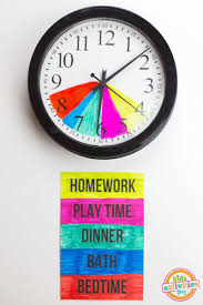 make after routines easier by color coding a clock