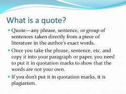 writing using lead ins quotes and lead outs in paragraphs and