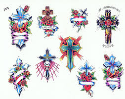 cross color tattoos art tattoos art