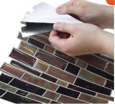 Smart Tiles In X In Beige Mosaic Vinyl Tile I Almost Want - Vinyl backsplash tiles