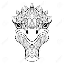 ostrich egg coloring page coloring pages of ostrich ostrich