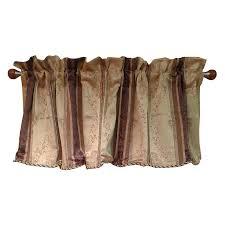 window accents tuscan stripe scroll stripe jacquards rod pocket