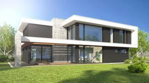 architektur bauhausstil einfamilienhaus im bauhausstil in der nähe rostock foto