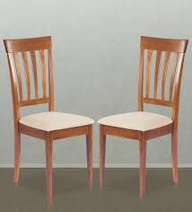 Shaker Dining Chair Buy Dining Chair Set Of 2 In Walnut Finish By Godrej