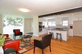 Open Concept Farmhouse by Warm Contemporary House For Sale Floor To Ceiling Window Exposed