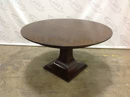 clarkswgd haven brunette walnut round dining table with 20 inch