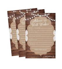 Wishes For The Bride And Groom Cards 50 4x6 Rustic Wedding Advice U0026amp Well Wishes For The Bride And