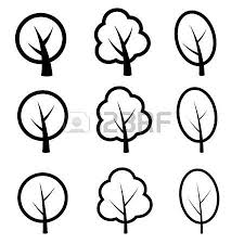 vector growth rings tree trunk symbols royalty free cliparts