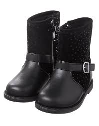 low moto boots toddler girls black dot moto boot by gymboree
