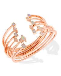 rose gold bangle bracelet images Kinsley rose gold bracelets set kendra scott jewelry jpg