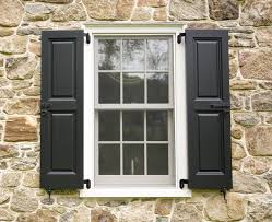 Traditional Interior Shutters Outdoor Windows