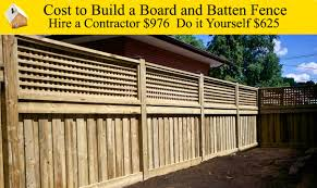 cost to build a board and batten fence youtube