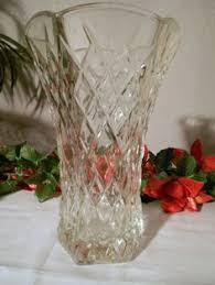 Vintage Cut Glass Vases Vintage Clear Glass Bubble Vase E O Brody Co E O Brody