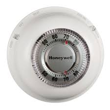 Radio Frequency Ac Thermostat Honeywell Round Heat Cool Thermostat Ct87n The Home Depot