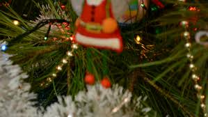 New Years Decorations Canada by Christmas Tree Globe Decorations Swinging On An Artificial Tree In