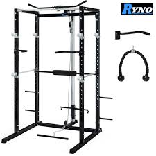 ryno ultimate power rack u0026 fid dumbbell weight bench package