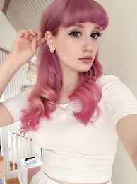 Hair Colors For Mixed Skin Tones I Want This Hair Color U201crose Pink U201d From Directions Mixed With A