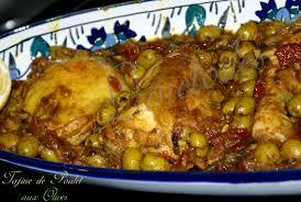 cuisine marocaine poulet aux olives tajine de poulet aux olives zeste de citron et tomates séchées
