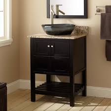 Everett Vessel Sink Vanity Black Bathroom - Bathroom sinks and vanities