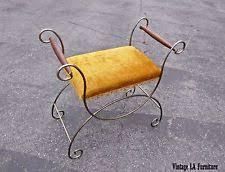 Velvet Vanity Chair Hollywood Regency Antique Benches U0026 Stools Ebay