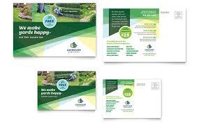 free microsoft word postcard template landscaper postcard template design