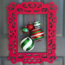 hanging christmas ornament frame wreath
