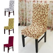 Dinning Chair Covers Aliexpress Com Buy Newest 1pc Jacquard Printed Thickening