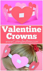 valentine crowns easy paper crafts and motor activities