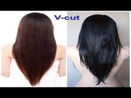 v cut layered hair v cut beautiful hairstyle for women youtube