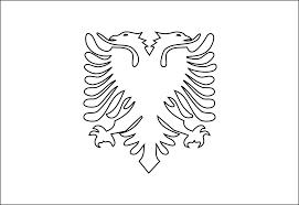 albania black white line art coloring book colouring