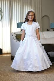 communion dress satin communion dress with image of our of guadalupe