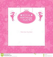 Birthday Cards Invitation Fairy Birthday Card Invitation Stock Vector Image 44301252