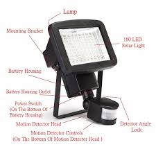 led solar security light 100 led pir solar security light motion detection sensor spot l