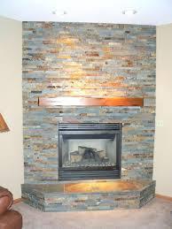 fireplace slate stacked stone large tile around veneer