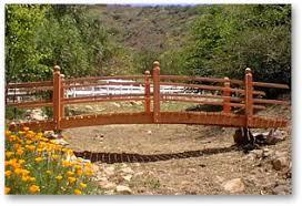 yard bridge water garden pond products redwood bridges hand made many