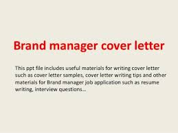brand manager cover letter sample cover letter marketing 31