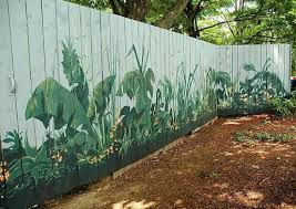 best 25 fence ideas on pinterest garden fence paint fence Garden Mural Ideas