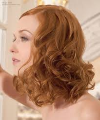 copper blonde hair color that brings out the lightness of the skin