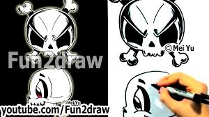 cute halloween skeleton how to draw a skull 2 different ways fun things to draw