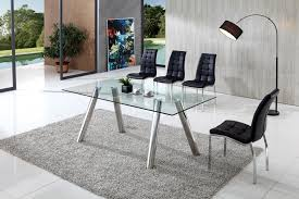 Glass Dining Table And  Chairs Modenza Furniture - Contemporary glass dining table and chairs